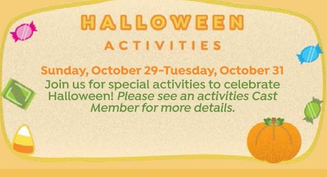 Walt Disney World Halloween Resort Activities 2