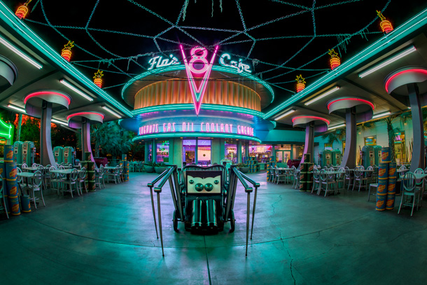 Haul-O-Ween In Cars Land - Flo's V8 Cafe