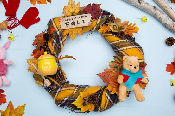DIY Winnie the Pooh Fall Wreath 4