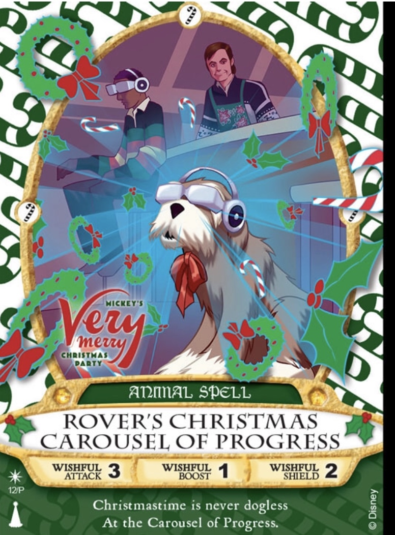 First Look: Rover's Christmas Carousel of Progress Sorcerers of the Magic Kingdom Card 13