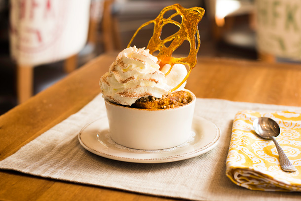 Pumpkin Bread Pudding at Chef Art Smith's Homecomin' in Disney Springs