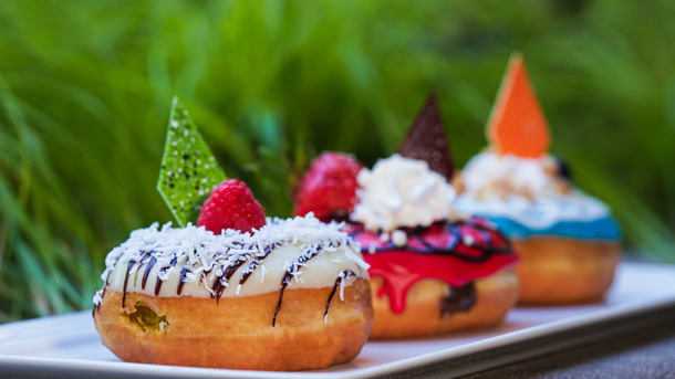 Gourmet Donuts at The Coffee House at Disneyland Hotel