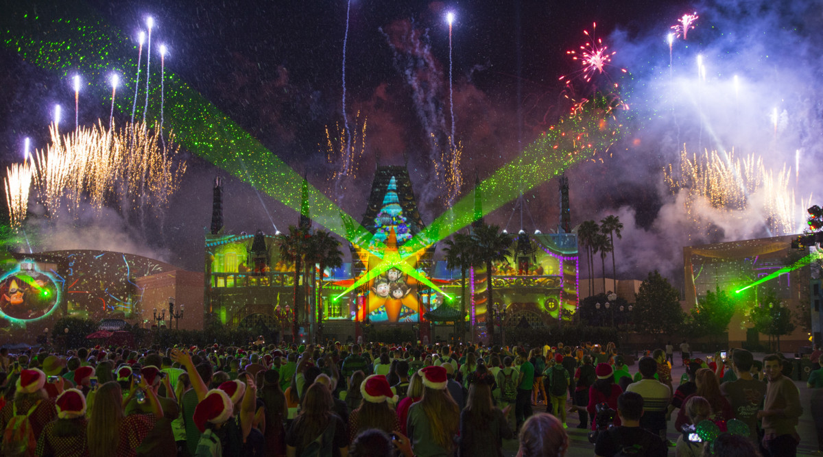 Projecting Christmas at Hollywood Studios 2