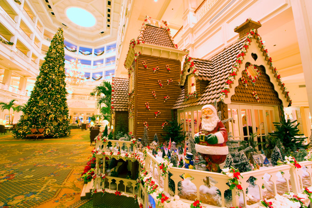 Gingerbread House and Christmas Tree at Disney's Grand Floridian Resort & Spa