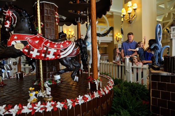 Gingerbread Carousel at Disney's Yacht and Beach Club Resorts