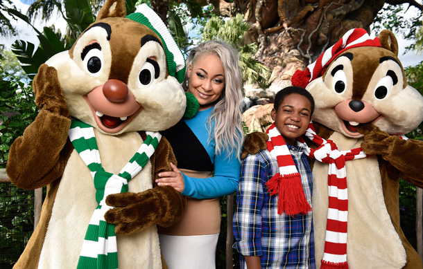 "Raven-Symoné and Issac Ryan Brown kick off the ""Disney Parks Presents a Disney Channel Holiday Celebration"""