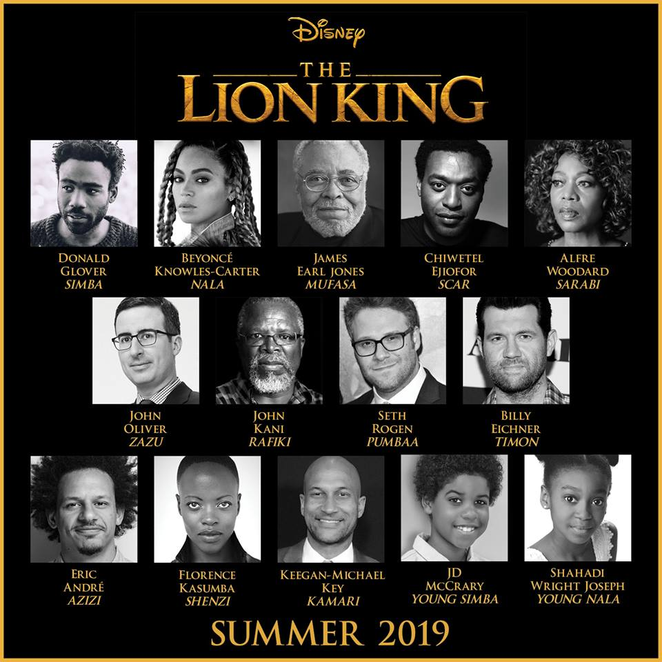 Cast Announced for the Lion King, With Beyonce as Nala! Details Below! 2
