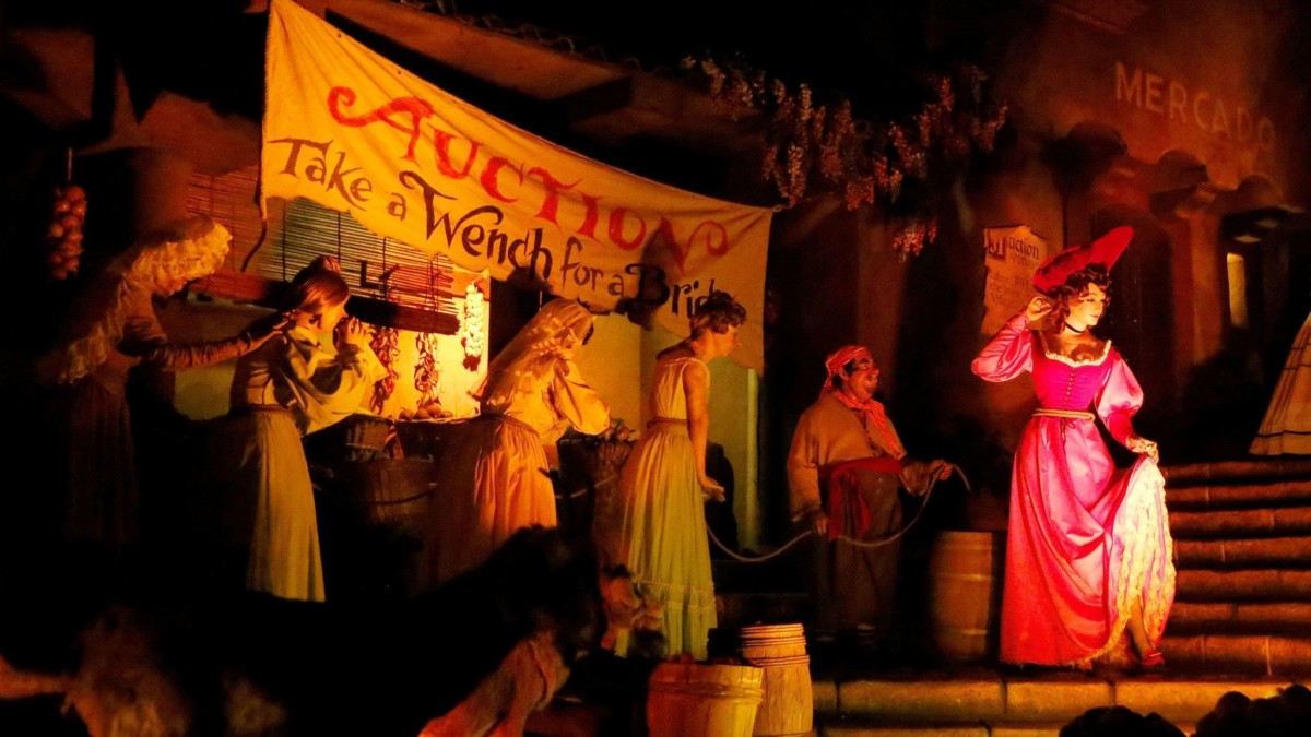 Today's the Last Day to Say Goodbye to the Auction Scene at Pirates of the Caribbean, WDW 1