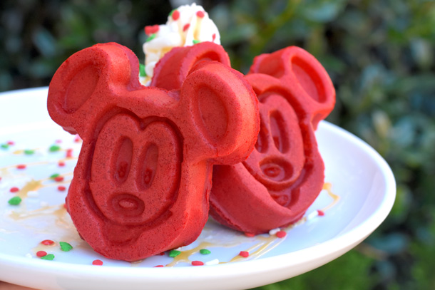 Red Velvet Mickey Waffles at Mickey's Very Merry Christmas Party
