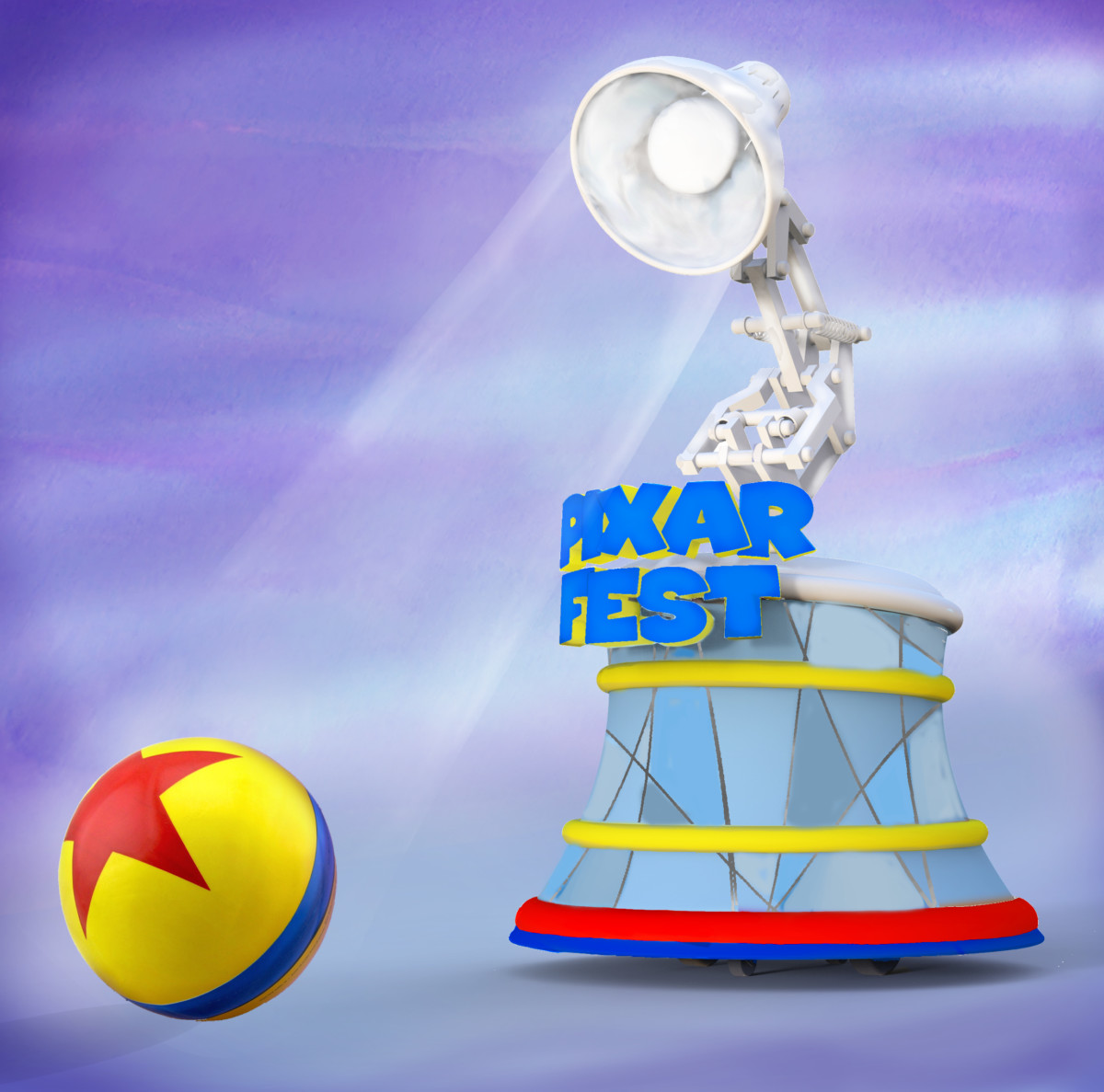 Pixar Lamp and Ball Coming to Pixar Play Parade at Disneyland Park