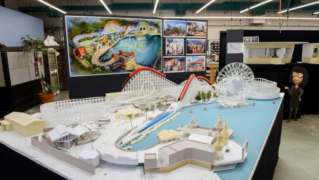 12 Days of Disney Parks Christmas: Working Model of Pixar Pier Shows Newly Themed Areas Coming Summer 2018 to Disney California Adventure Park 2
