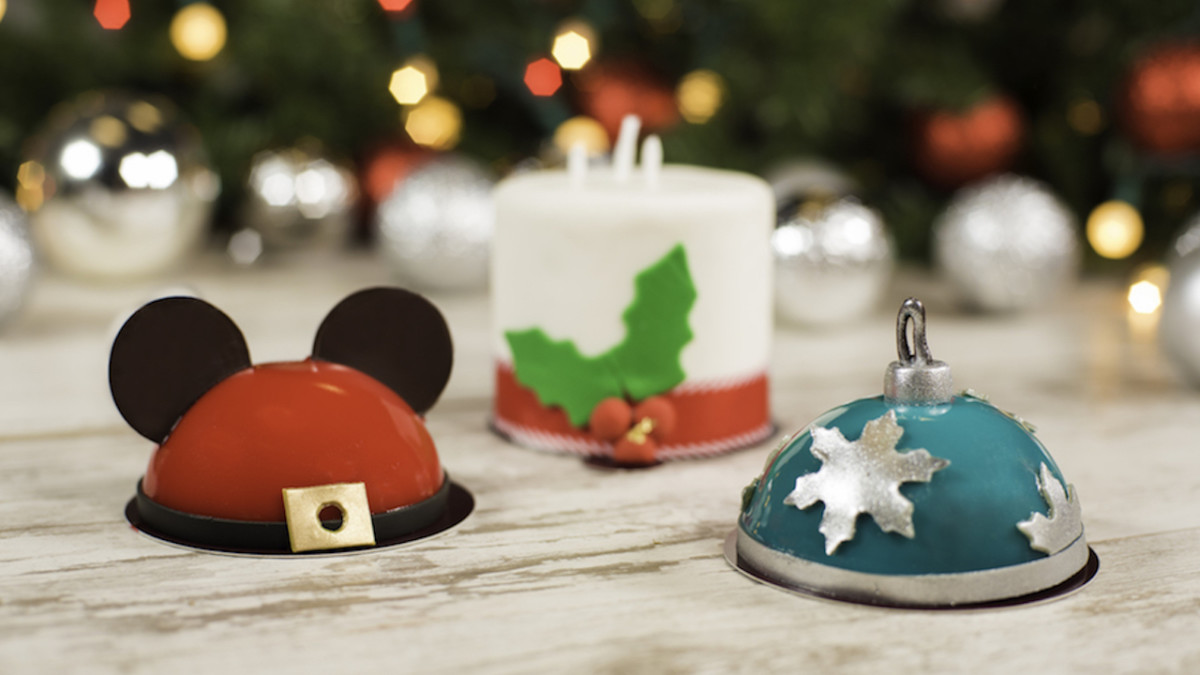 Holiday Mini-Dome Cakes at Amorette's Patisserie at Disney Springs