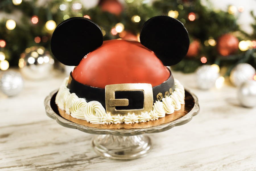 Santa Mickey Dome Cake at Amorette's Patisserie at Disney Springs