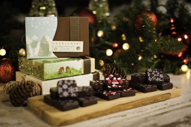 Holiday Boxes and Ganache Squares at The Ganachery at Disney Springs