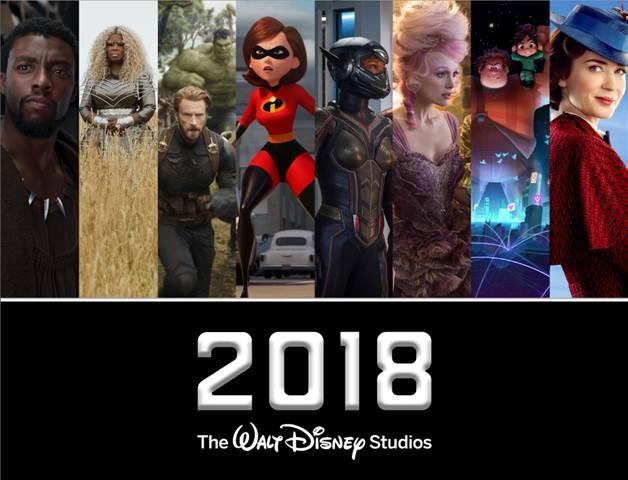 2018 Walt Disney Studios Motion Pictures! See the List Below! 2