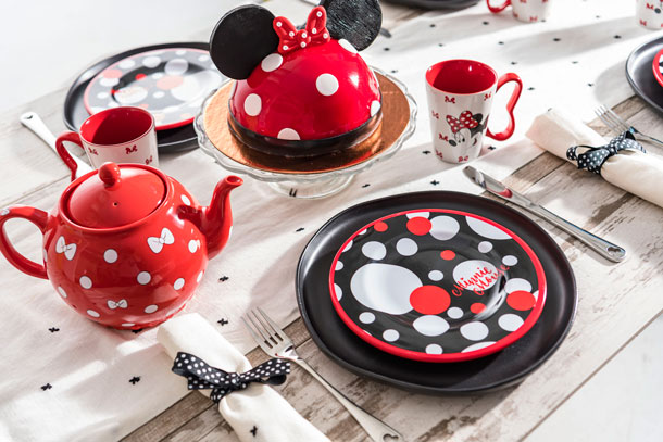Minnie Mouse Merchandise and Minnie Mouse Dome Cake from Amorette's Patisserie at Disney Springs
