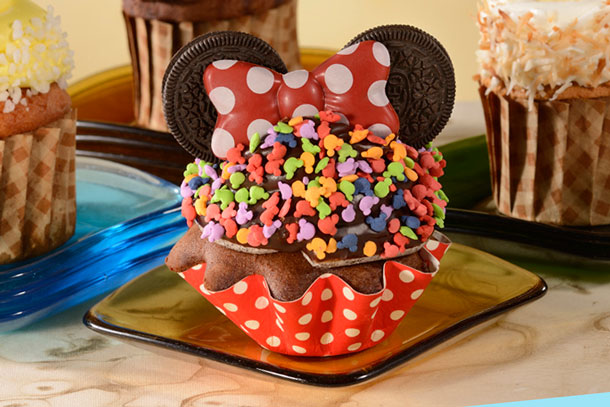 Minnie Mouse Cupcake from Gasparilla Island Grill at Disney's Grand Floridian Resort & Spa