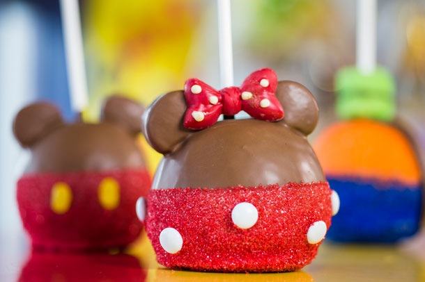 Minnie Mouse Candy Apple at Walt Disney World Resort