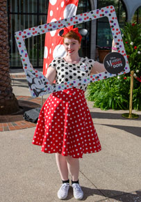 Guests Rock The Dots at Downtown Disney District