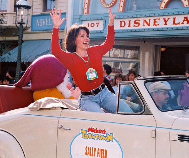 Sally Field in Mickey's Toontown at Disneyland Park