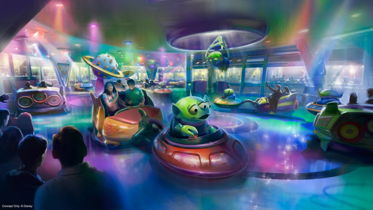Reimagining the Future of Disney's Hollywood Studios: First look at Toy Story Land's Alien Swirling Saucers 1