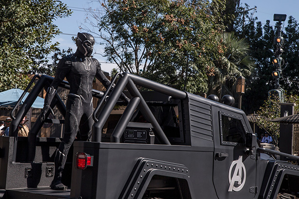 Black Panther and Dora Milaje at Disney California Adventure Park