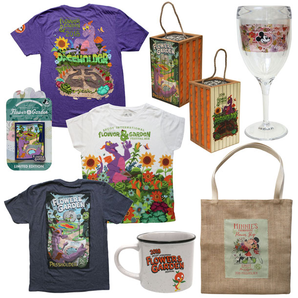 New Merchandise Blooms for 25th Epcot International Flower & Garden Festival - Annual Passholder Exclusive Products