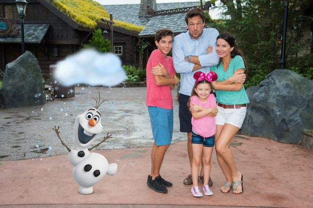 Disney PhotoPass Magic Shot with Olaf in the Norway Pavilion at Epcot