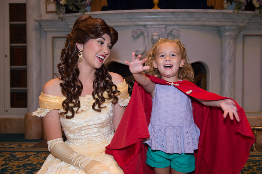 Girl with Belle at Enchanted Tales with Bell