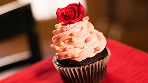 Chocolate Strawberry Cupcake at Disney's Port Orleans Resort