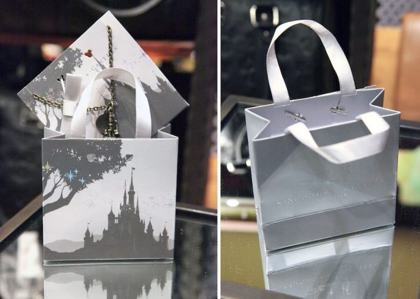 Castle Artwork on New Disney Parks Jewelry Miniature Gift Bags