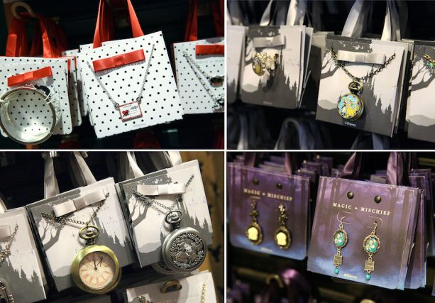Artwork on New Disney Parks Jewelry Miniature Gift Bags