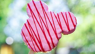 Valentine's Day Mickey-shaped Crispy at Disneyland Resort