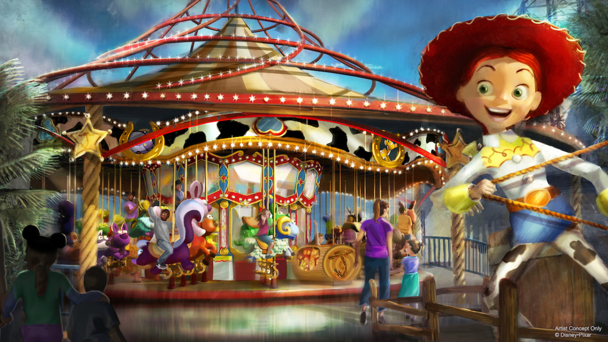 Transformation Around Every Corner at Pixar Pier with Jessie's Critter Carousel and More 1