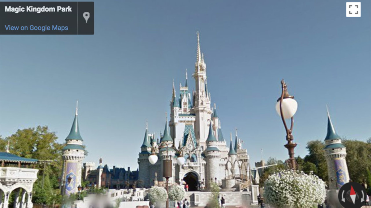Google Street View Now Available For Disney Parks 1
