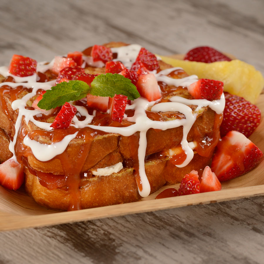 Guava-Stuffed French Toast at Spyglass Grill at Disney's Caribbean Beach Resort