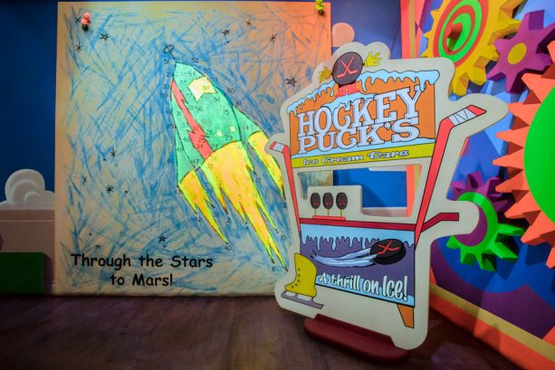 Toy Story Midway Mania Hockey Puck's Ice Cream