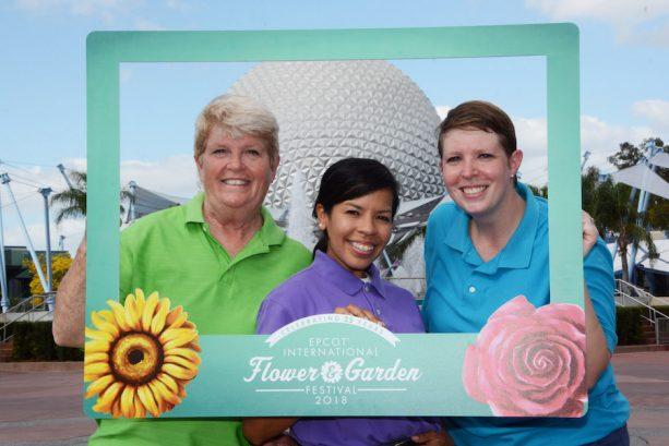 PhotoPass Prop During the Epcot International Flower & Garden Festival