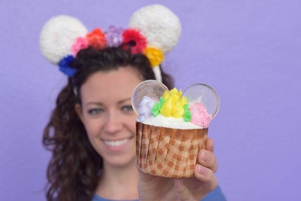 Flower Crown Cupcake at Magic Kingdom Park