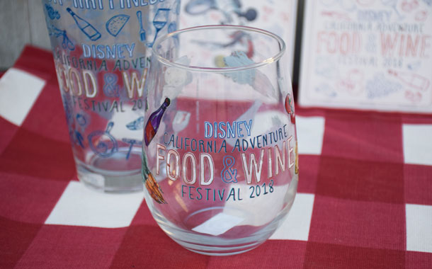 Disney California Adventure Food & Wine Festival Glassware