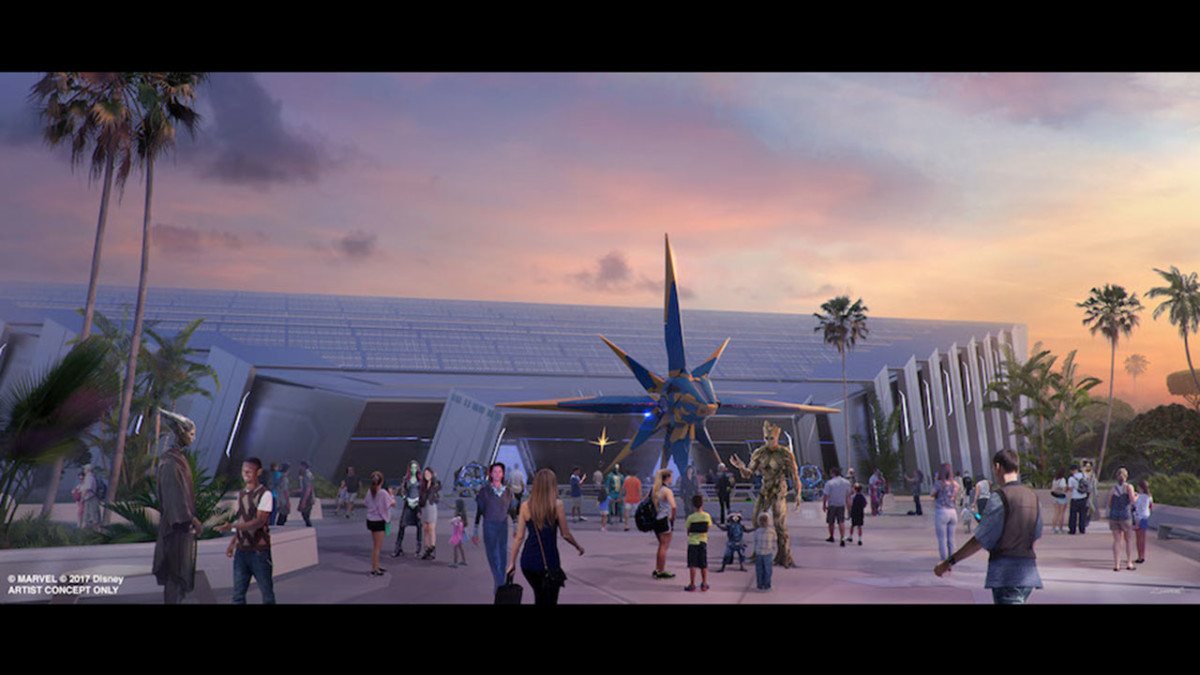Work Continues on the 'Guardians of the Galaxy'-Themed Roller Coaster at Epcot 4