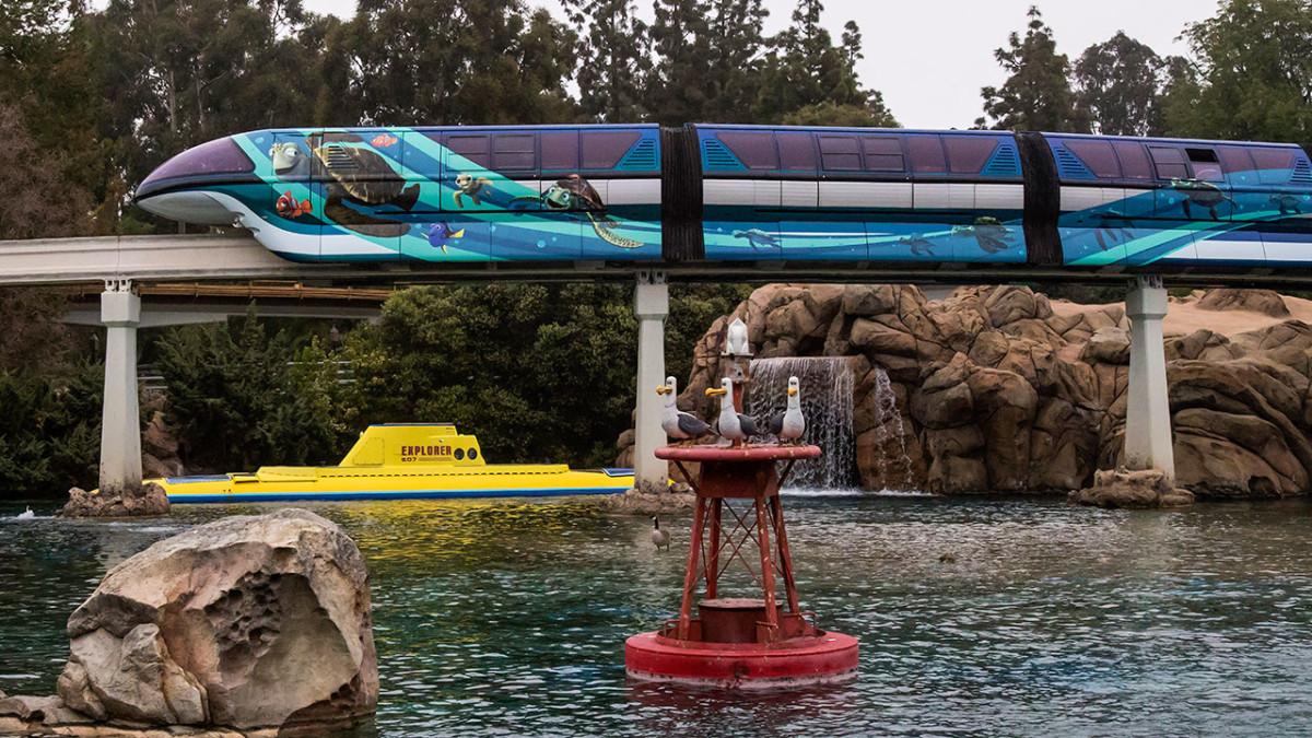 First Look: Pixar-Themed Disneyland Monorail Unveiled at Disneyland Resort 1