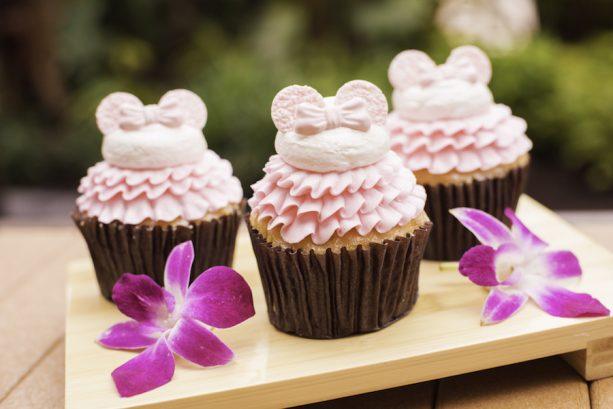 Millennial Pink Cupcake at Capt. Cooks at Disney's Polynesian Village Resort