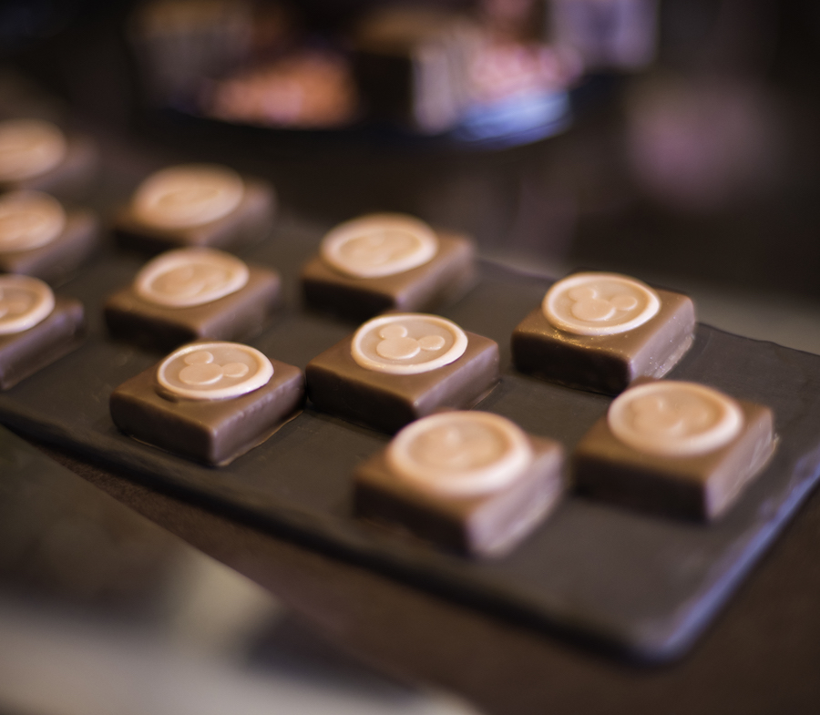 Millennial Pink-Berry Ganache Square at The Ganachery at Disney Springs