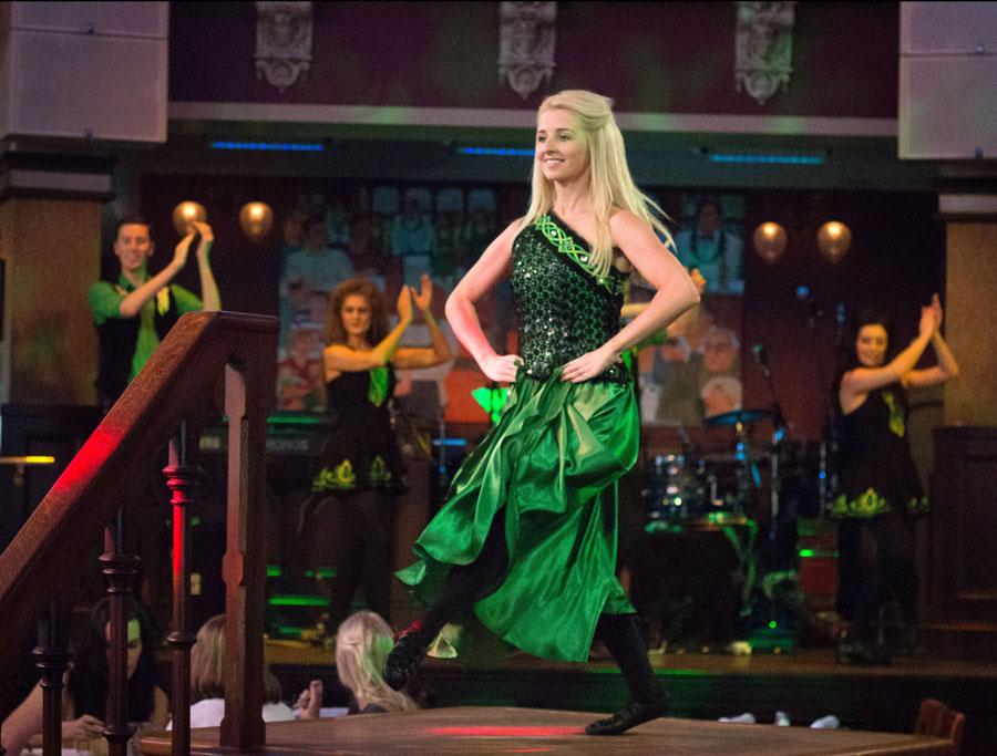 Irish dancers perform at Raglan Road Irish Pub and Restaurant at Disney Springs