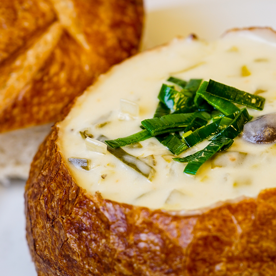 Pixar Fest Potato Soup Bread Bowl at Cafe Orleans