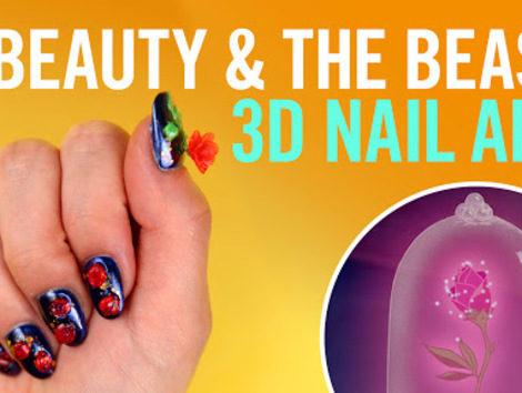 Beauty And The Beast 3d Nail Art Diy