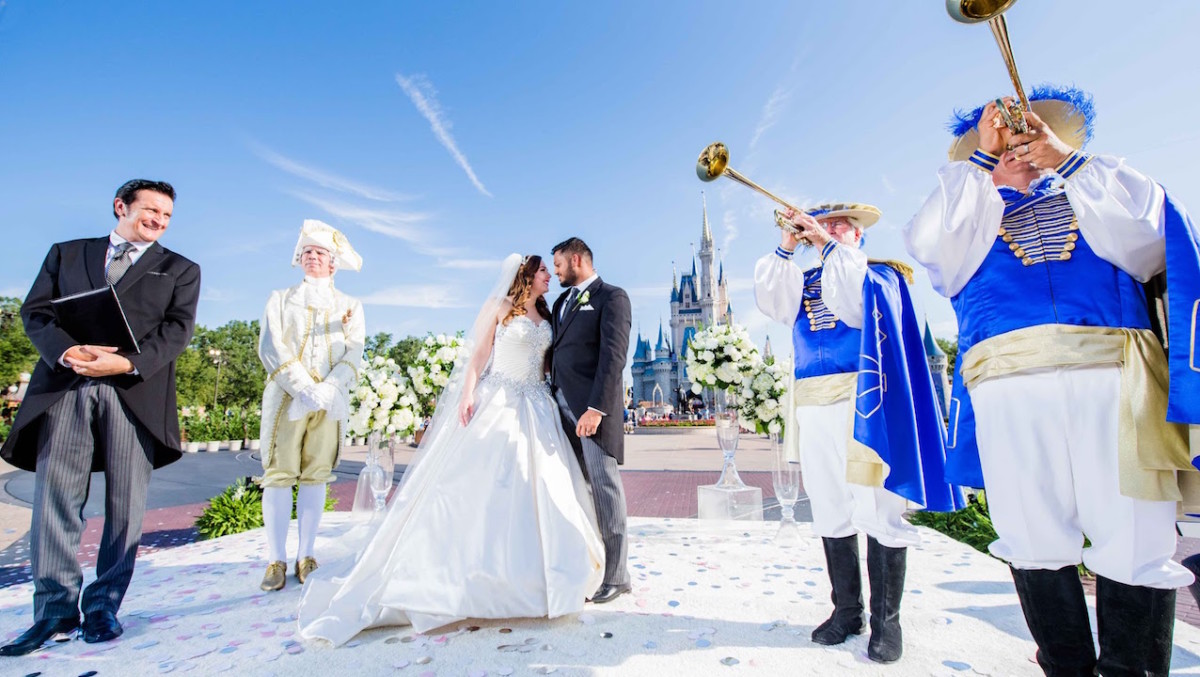 Couple Celebrates 'Happily Ever After' With Their Own Royal Disney Wedding 1