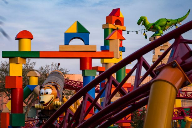 First Look: Cast Members Enjoy an Early 'First-Ride' on Slinky Dog Dash 11