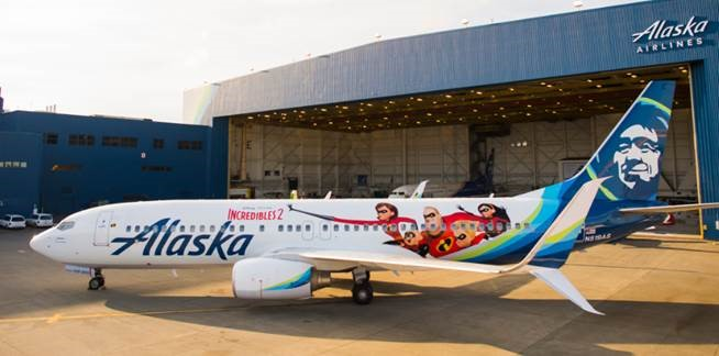 Alaska Airlines gets 'animated' with newly themed plane featuring artwork from Disney•Pixar's Incredibles 2 1